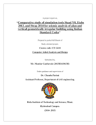 comparative study of simulation tools staad v8 etabs 2013 and