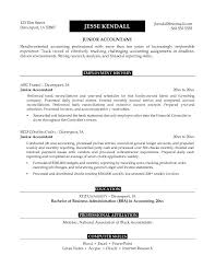 example junior accountant resume free sample the 10 commandments