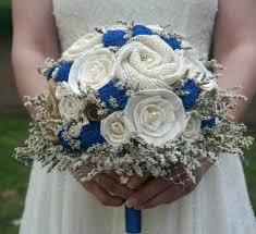 Blue Wedding Bouquets Cobalt Blue Wedding Bouquet Royal Blue Sola Bouquet