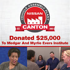 nissan 370z jackson ms nissan donates 25 000 to medgar and myrlie evers institute