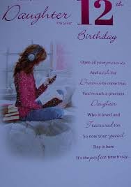 for a special daughter on your 12th birthday card 7332 cg