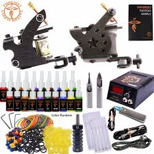 completed tattoo kit equipment tattoo machine gun 20 color power
