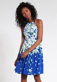 women dresses adrianna papell summer dress blue multi adrianna