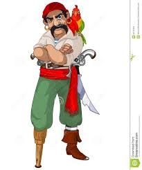 cartoon pirate parrot stock image image 32737561