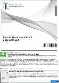 exle debutante biography sle presentation for a debutante ball pdf