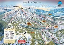 Maps Montana by Big Sky Resort Skimap Org
