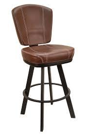 bar stools restaurant gladiator contemporary brown white stitch restaurant bucket seat