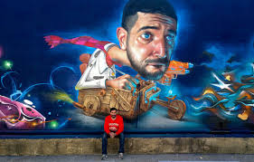 belin s funny photo realistic graffiti murals bring humor to the spanish street artist belin travels to america to create this funny surrealist graffiti mural