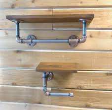 Bathroom Fixtures Towel Bars by Industrial Style Towel Bar And Toilet Paper Holder With Black