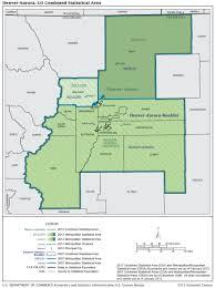 Map Of Denver Metro Area by U S Census Bureau Metropolitan Population Estimates July 1 2016