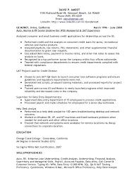 Entry Level Qa Resume Sample by Skill Resume Credit Analyst Resume Sample Credit Analyst Resume