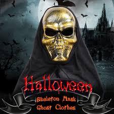 Skeleton Mask Halloween Costume Scary Skeleton Mask Ghost Clothes Sales Online 1