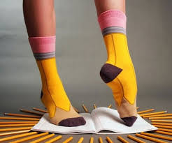 Pencil Halloween Costume Socks