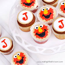 elmo cupcakes sugar cookies and cupcakes for a boy birthday 2 year