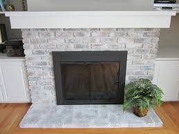 whitewash brick fireplace easy diy hirerush blog