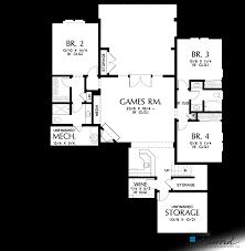 lower floor plan of mascord plan 1337a the beaverton beautiful