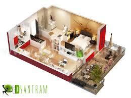 3d floor plan rendering 3d floor plan with wall cut rachana desai