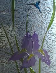 Glass Door Etching Designs by Iris Hummingbird 3d Paint Gc Carved Glass Doors Sans Soucie