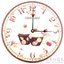 wall clocks shabby wall clock large cream shabby chic wall clock