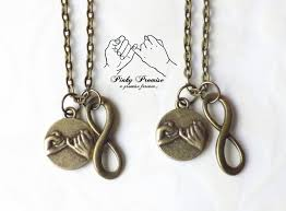 jewelry infinity necklace images 2 bronze infinity pinky promise necklaces best friends jpg