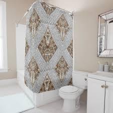 Silver Sparkle Shower Curtain Sequin Shower Curtains Zazzle