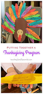 preschool thanksgiving program teaching 2 and 3 year olds