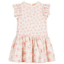 stella mccartney kids baby girls pink floral cotton dress