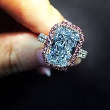 5 Carat Cushion Cut Engagement Rings 50 Gorgeous Blue Diamond Rings U2014 Style Estate