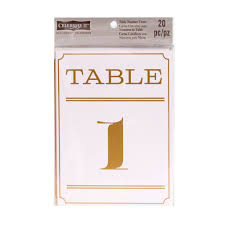 Table Tent Cards Celebrate It Occasions Numbered Table Tent Cards Art Deco