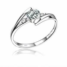 925 sterling silver engagement rings h a swiss 925 sterling silver ring with 18k white gold