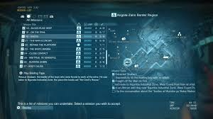 mgs5 africa map voices mission guide mgsv the phantom