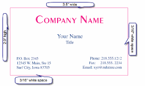 Standard Us Business Card Size Remarkable The Size Of A Business Card 21 On Business Card Ideas