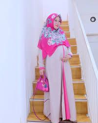 desain baju gamis hamil 17 model baju muslim casual 2018 edisi terbaru modis dan kece