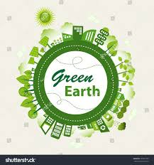 green planet earth concept sustainable green stock vector