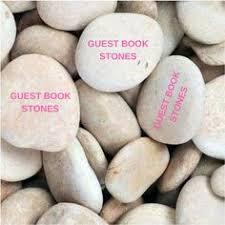 wedding wishing stones 20 flat guest book stones wedding rocks flat wishing stones