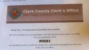 clark county nevada marriage application ghost study