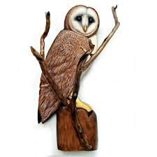 barn owl sculpture owl owl wood carving owl