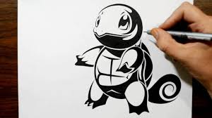 drawing squirtle in a tribal tattoo design style youtube