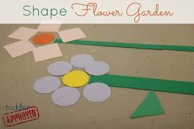 toddler approved shape flower garden