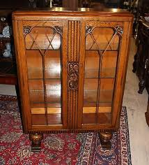 oak bookcases with glass doors beautiful english antique oak art deco bookcase curio cirio