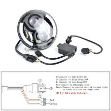 amazon com danti 7inch round front light beam cree led driving