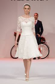 mae vintage style lace tea length wedding dress with sleeves buy