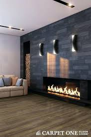 modern stone fireplace wall ideas design walls modern stone