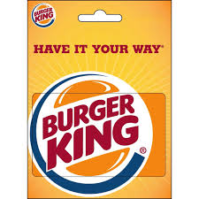 dining gift cards burger king gift card entertainment dining gifts food