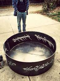 rings with fire images Plasma cut lord of the rings fire pit 4 39 diameter out of 10ga jpg