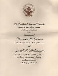 Launch Invitation Card Sample Invitations To The First Inauguration Of Barack Obama Wikipedia