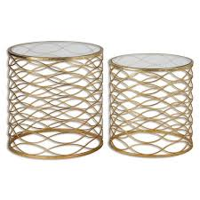 Gold Accent Table Uttermost Zoa Gold Accent Table Set Of 2 Free Shipping Today
