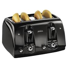 Best Buy Toasters 4 Slice Sunbeam 4 Slice Extra Wide Slot Toaster Black Tssbtr4sbk Target