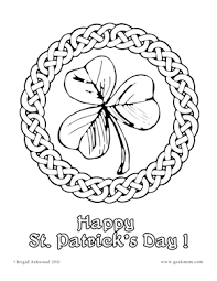 printable fun shamrocks coloring pages coloring and celtic
