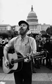 Pete Seeger at demonstration
